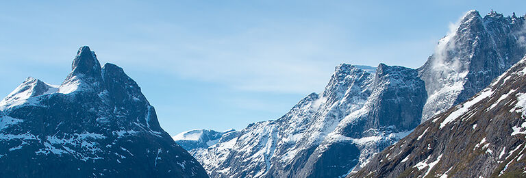 snowy peaks in the French Alps