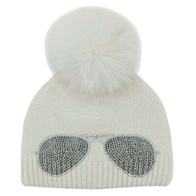 Mitchies Knitted Sweet Shades Hat Womens