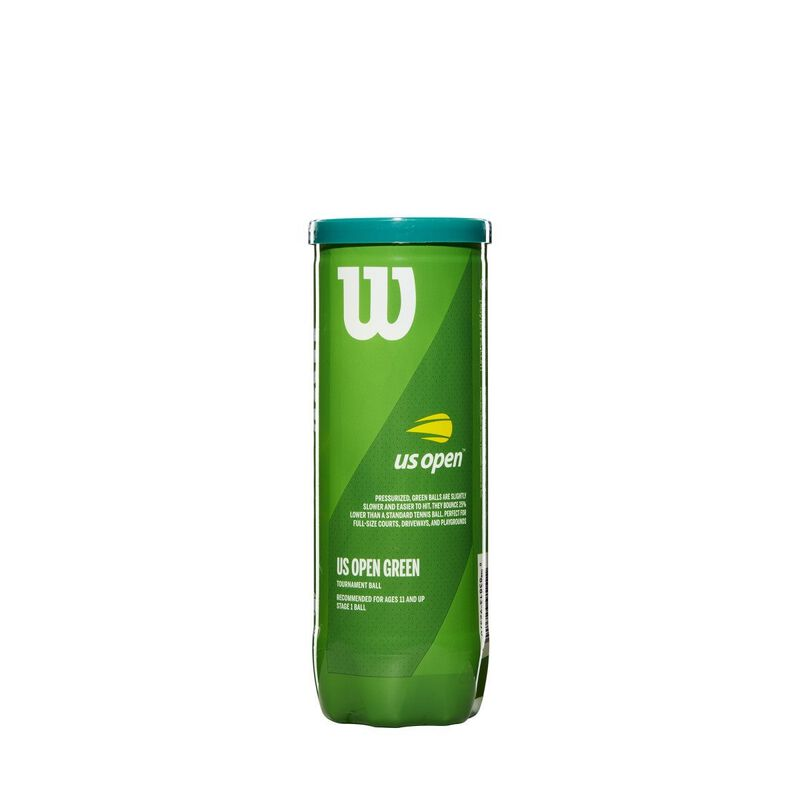 Wilson US Open Green Tournament Transition Tennis Balls 1 Can image number 0
