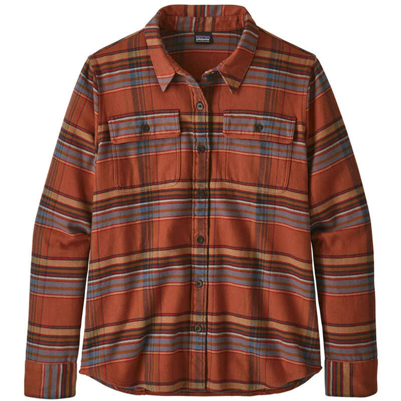 Patagonia Long-Sleeved Fjord Flannel Shirt Womens image number 0