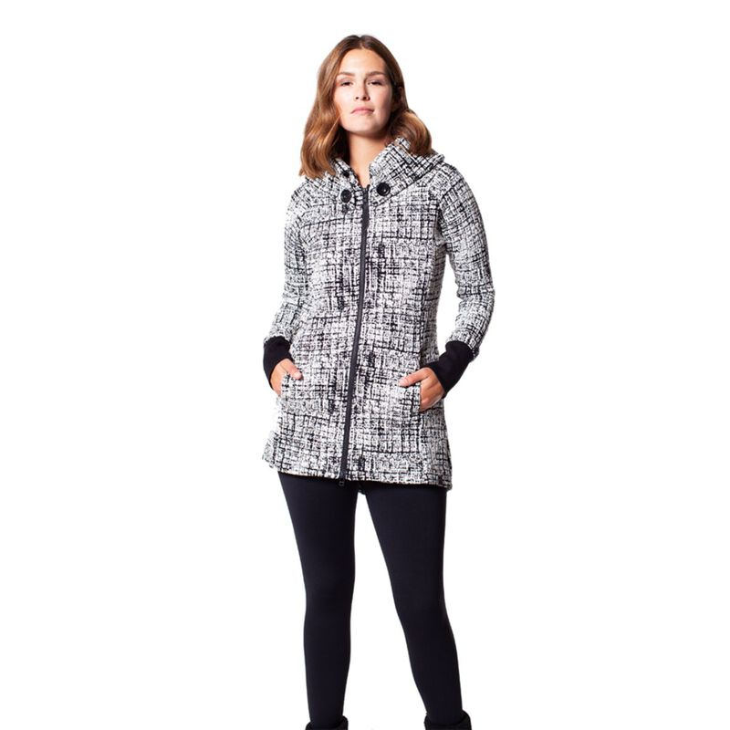 Tonia Debellis Maggie Abstract Grid Coat image number 1